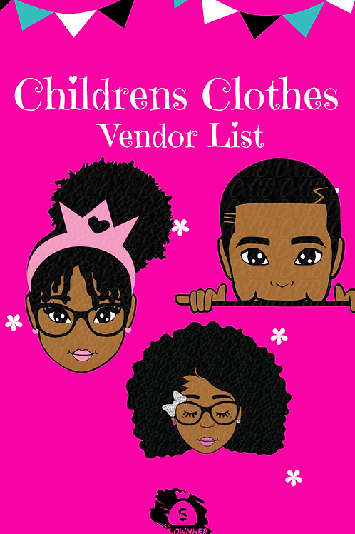 Children's Clothing Vendors