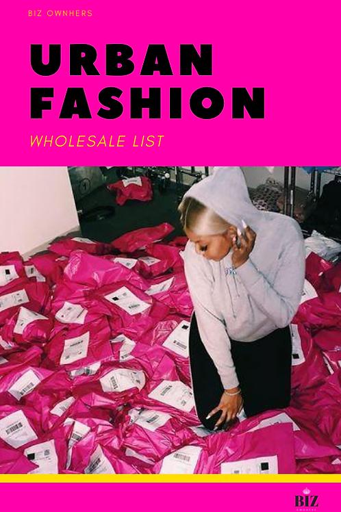 Urban Fashion Wholesale List