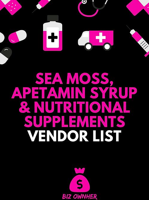 Sea Moss, Apetamin Syrup & Nutritional Supplements