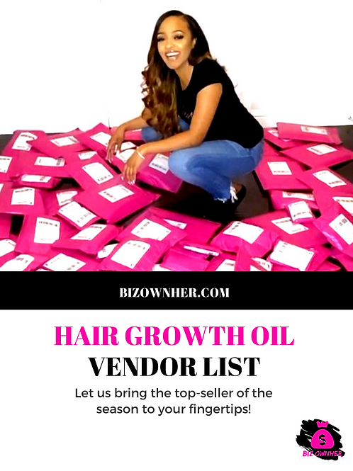 Hair Growth Oils Vendor list
