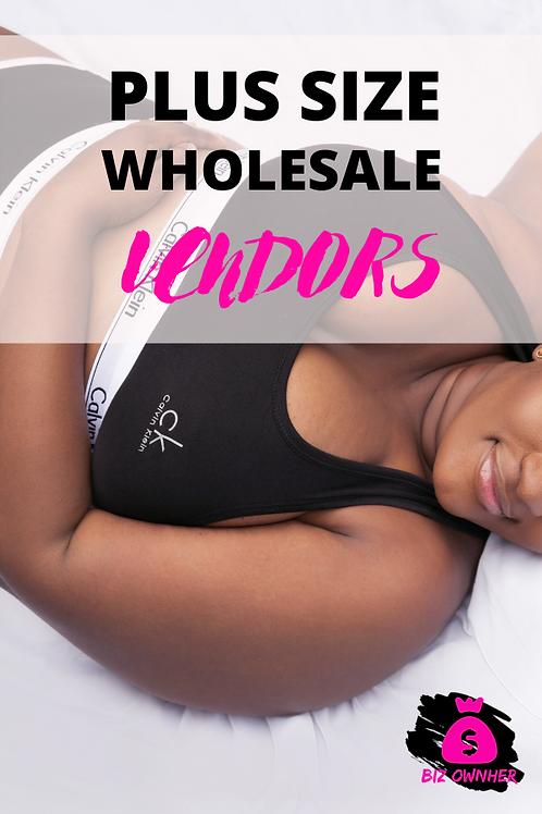 Plus Size Wholesale List
