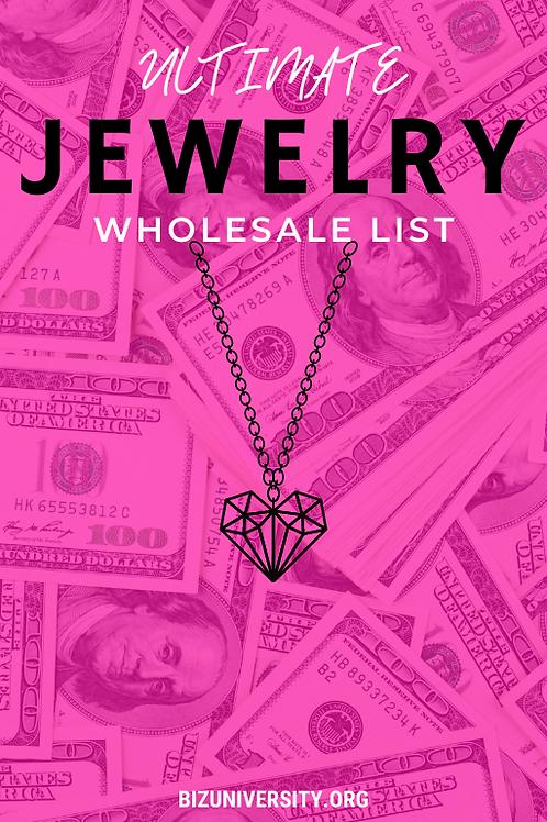 Ultimate Jewelry Wholesale List