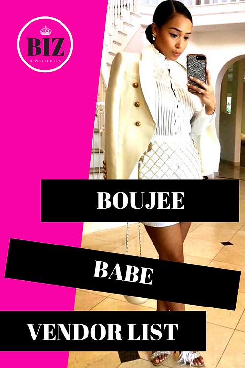 Boujee Babe Vendor List