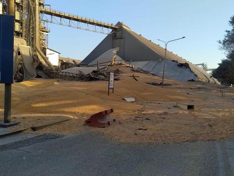 Derrumbe de un silo en Bunge con dos trabajadores atrapados