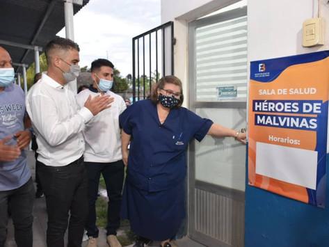 Reabrió la sala de salud de Sargento Cabral y se inauguró un Centro de Infancias y Adolescencias