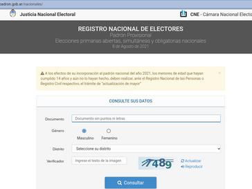 Padrón electoral definitivo y medidas para votar en pandemia
