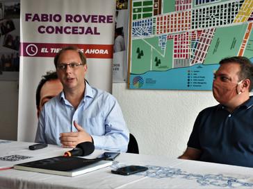 Gonzalo Saglione visitó Capitán Bermúdez y respaldó la candidatura de Fabio Rovere