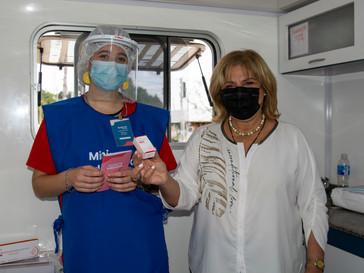 La provincia comenzó la vacunación con Cansino