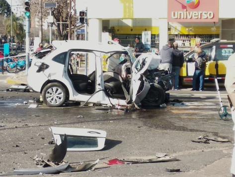Murieron una joven beltranense y un bermudense en accidente