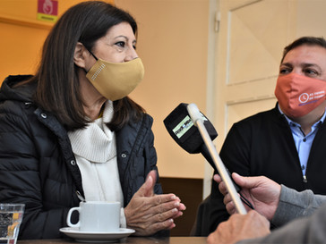 Clara García estuvo junto a Fabio Rovere en Capitán Bermúdez