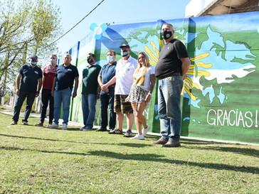 Inauguraron mural en homenaje a los ex Combatientes de Malvinas en Capitán Bermúdez