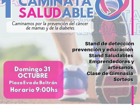 Caminata saludable para la prevención del cáncer de mama y de la diabetes