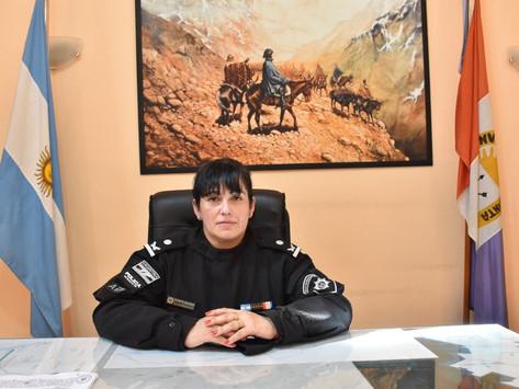 Silvia Puchetta es la primera mujer en asumir la jefatura policial de San Lorenzo