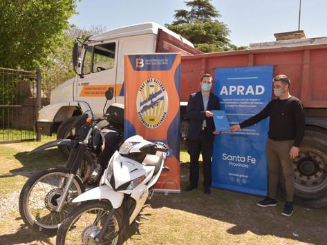 La ciudad recibió vehículos recuperados del delito para control, seguridad e higiene