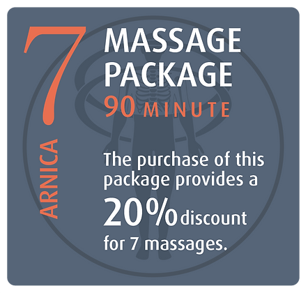 Massage Package 7 Arnica - 90 minute