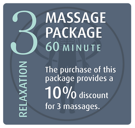 Massage Package 3 Relaxation - 60 minute