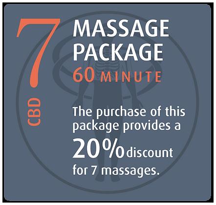 Massage Package 7 CBD - 60 minute