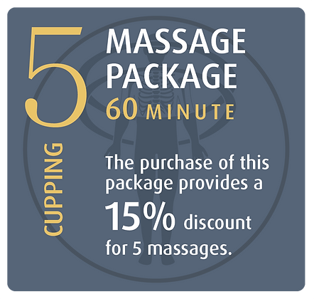 Massage Package 5 Cupping - 60 minute
