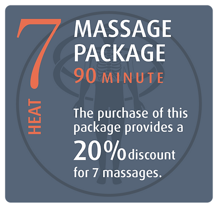 Massage Package 7 Heat - 90 minute