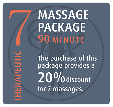 Massage Package 7 Therapeutic - 90 minute