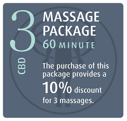 Massage Package 3 CBD - 60 minute