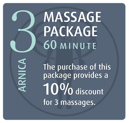 Massage Package 3 Arnica - 60 minute
