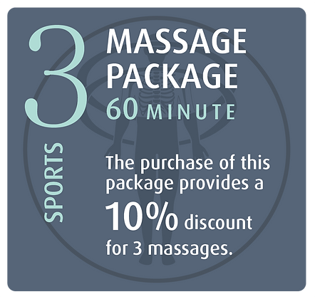 Massage Package 3 Sports - 60 minute