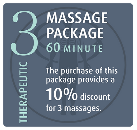 Massage Package 3 Therapeutic - 60 minute