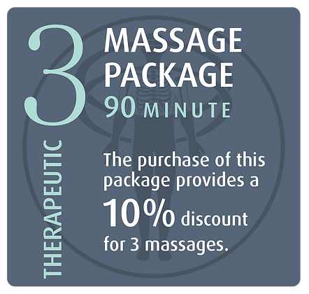 Massage Package 3 Therapeutic - 90 minute