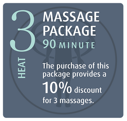 Massage Package 3 Heat - 90 minute
