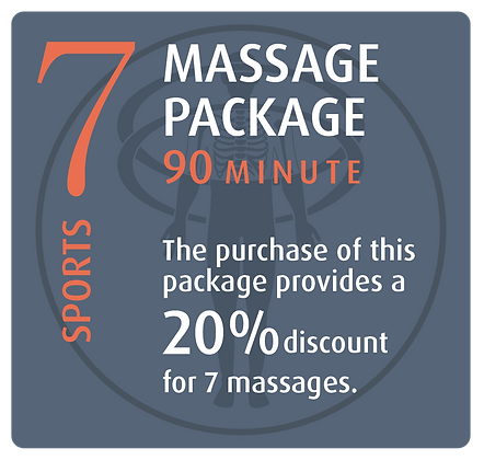 Massage Package 7 Sports - 90 minute