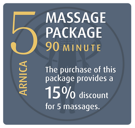 Massage Package 5 Arnica - 90 minute