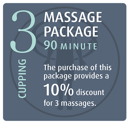 Massage Package 3 Cupping - 90 minute