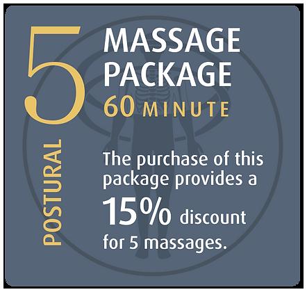 Massage Package 5 Postural - 60 minute