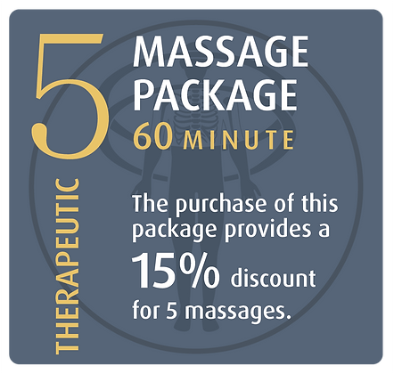 Massage Package 5 Therapeutic - 60 minute