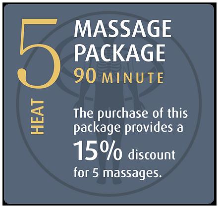 Massage Package 5 Heat - 90 minute