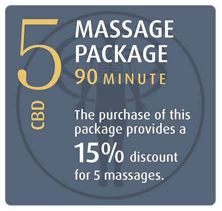 Massage Package 5 CBD - 60 minute