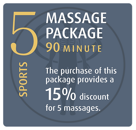 Massage Package 5 Sports - 90 minute