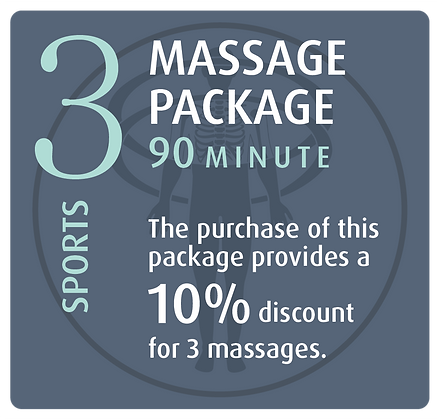 Massage Package 3 Sports - 90 minute