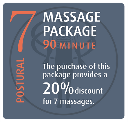Massage Package 7 Postural - 90 minute