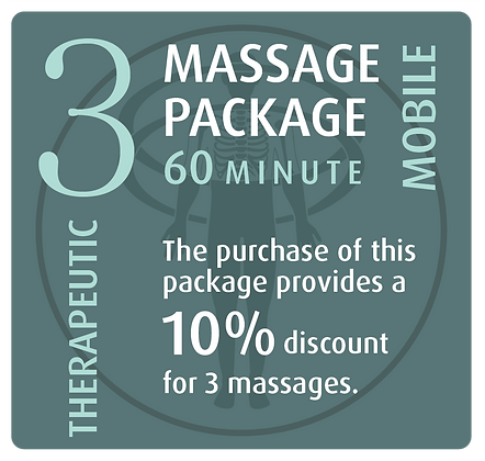 Mobile Package 3 Therapeutic - 60 minute