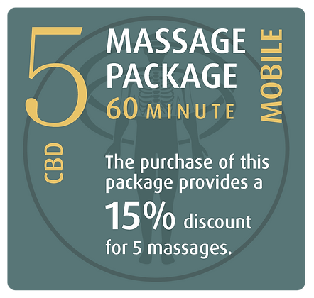 Mobile Package 5 CBD - 60 minute