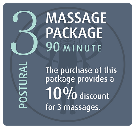 Massage Package 3 Postural - 90 minute