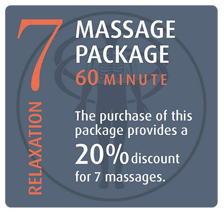 Massage Package 7 Relaxation - 60 minute