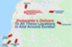 Esmeralda's 2.0 Authentic Mexican Restaurant Eureka CA Delivery Area Map