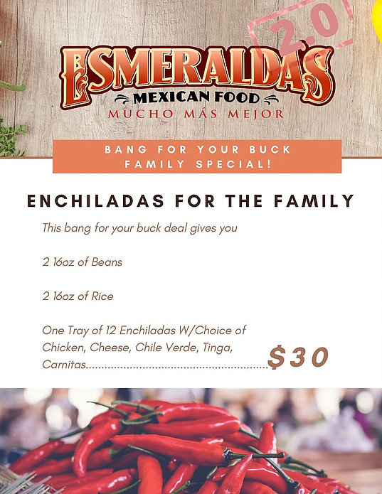 "Esmeralda's 2.0 Authentic Mexican Restaurant In Eureka CA | ""Bang For Your Buck"" Family Special 