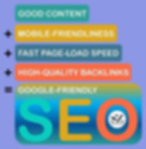 Good Content + Mobile Friendliness + Fast Page Load Speed + High Quality Backlinks = Google Friendly SEO