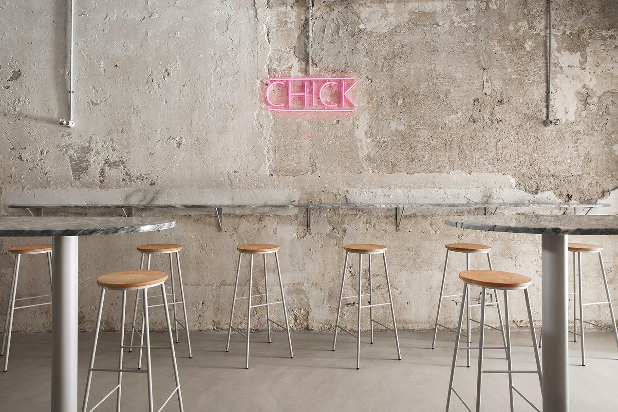 CHICK Fried Chicken Design Industrial Look