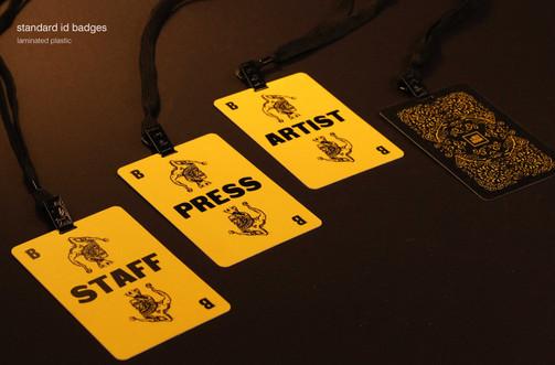 staff plastic badges