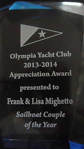 Sailboat Couple of the Year Award Plaque